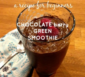 Chocolate berry green smoothie